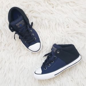 NEW All Star Converse Axel Mid Top Navy Sneaker